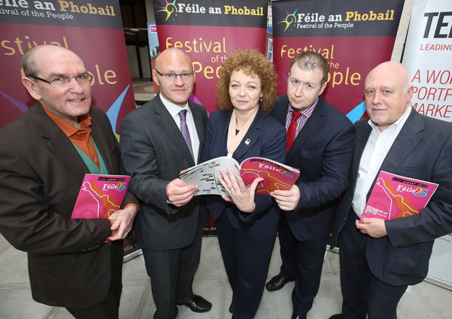 Culture, Arts and Leisure Minister, Cáral NÍ Chuilin, MLA launches the 25th Feile an Phobail
