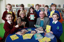 Pupils from St Luke's Primary School and St Mark's Primary School in North Belfast met award winning author Sally Gardner at Colin Glen Library this week.  Sally read an extract from her new book 'Operation Bunny' as part of her tour of libraries througho
