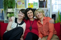 Dogears directors Laura Campbell, Fionnuala Deane and Jackie McColgan