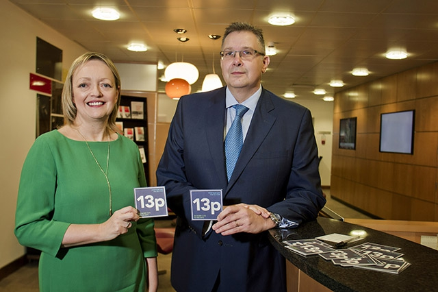 Mary Trainor-Nagele Director Arts and Business with Paul Terrington Regional Chairman PwC and Chairman Institute of Directors Northern Ireland