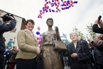 Finance Minister Arlene Foster pictured at the launch of Mother Daughter Sister celebrating the women of Sandy Row