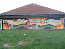 Completed mural, New Mossley Re-imaging project.