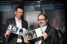 Festival Director Graeme Farrow is pictured with Arts Council Vice Chair Damian Coyle at the Ulster Bank Festival at Queen's programme launch