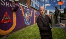 German artist, Holger Lönze, is working on a new artwork to bring 'Conor's Corner' to the Shankill Road.