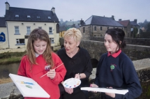Students from Kesh Primary School, Co Fermanagh and St Mary's National School, Pettigo, Co Donegal have joined forces on public art proposal