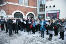 """On the first day of Christmas the Executive gave to me, a fair deal for the arts"", was the Christmas wish sung to politicians and the public by representatives from the local arts sector on Monday 20th December. The impromptu festive carol service took p"