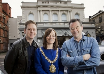 Pictured making the announcement is Ciaran Scullion, Arts Council, Councillor Nichola Mallon, Lord Mayor of Belfast, and Brian Irvine, Belfast Music Laureate