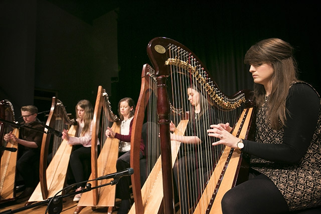 Harpists at Seamus Heaney HomePlace