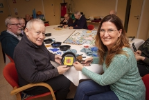 Pictured (L-R) is project participant, Victor Gormley with Gail McGarvey, Director, Play Resource.