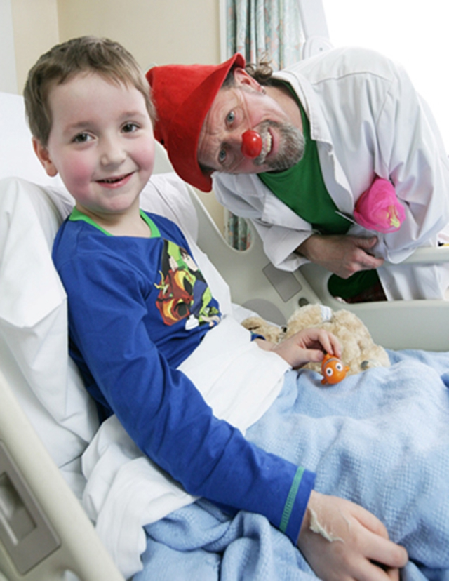 The Northern Ireland Clown Doctors bring smiles, laughter & fun to children & young people undergoing medical treatment in hospitals & other health care settings as part of Arts Care's programme, supported by the Arts Council's National Lottery funding.