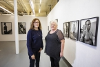 Pictured is photographer, Dana Lixenberg, with Belfast Exposed Chief Executive, Deirdre Robb.