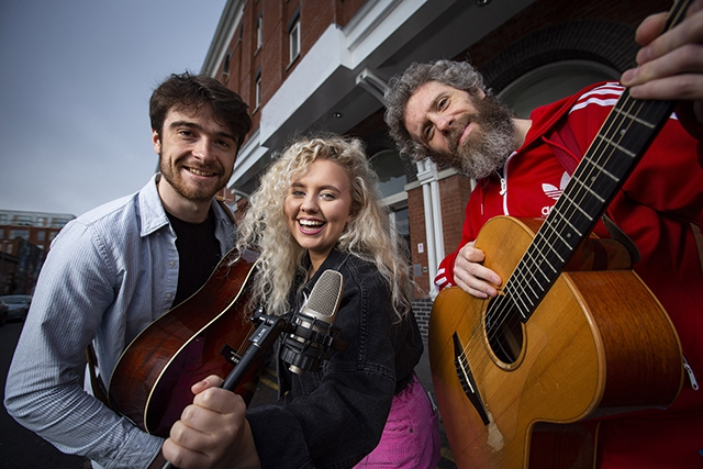 Pictured (L-R) is Reuben Agnew, Emma Horan and Donal Scullion.