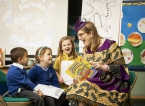 Children's illustrator and writer Sarah McIntyre inspires children to get creative in primary schools across Northern Ireland