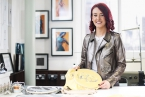 Fashion designer and textile artist, Chloe Dougan has launched an exhibition entitled, Anxiety and the Artist, at the Duncairn Centre, North Belfast,
