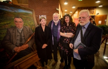 Pictured (L-R) at the tribute event are artists Leontia Flynn, Michael Longley, Sinéad Morrissey and Frank Ormsby.