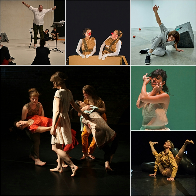 (Clockwise from top left): John Scott, Tonya Sheina and Zoe Ramsey, Mary Wycherley, Sahar Damoni, Tanzfuchs and Simonetta Alessandri company.