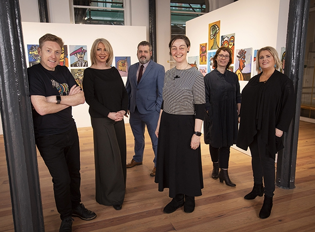 Pictured (L-R) are Northern Ireland IPAY delegates, Paul Bosco Mc Eneaney, Cahoots NI, Una Nic Eoin, Prime Cut Productions, Brian Mullan, Replay Theatre Company, Eibhlin de Barra, Young At Art, Nicola Curry, Maiden Voyage Dance and Gilly Campbell, ACNI