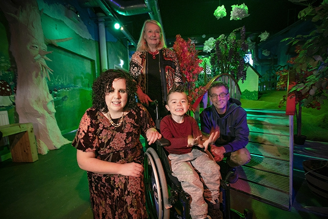 Pictured at the Imaginarium launch event is (L-R) Grainne Powell, Sticky Fingers, Noirin McKinney, Arts Council of Northern Ireland, Alfie Pentony age 6 and  Jim Russell, Sticky Fingers play worker.