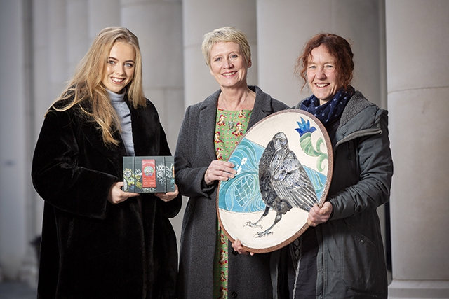 Pictured L-R Kathryn Graham, Sonya Whitefield, Arts Council of Northern Ireland and Eleanor Wheeler.
