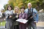 Pictured is filmmaker Myrid Carten, musician Joby Fox, painter Angela Hackett and jewellery maker Robyn Galway.