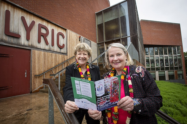 Barbara Wickham, British Council Director for India, is pictured with Noirin McKinney, Director of Arts Development, Arts Council of Northern Ireland