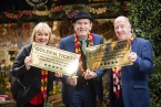 Pictured is winner Jacqueline Dickson with her husband Billy Dickson and Damian Smyth, Arts Council of Northern Ireland (middle).