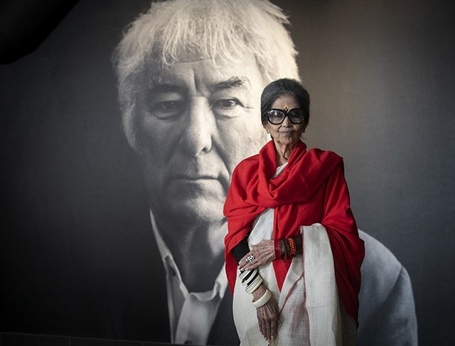 Grand daughter of Mahatma Gandhi, Tara Gandhi Bhattacharjee, key note speaker at the Seamus Heaney HomePlace, Bellaghy for a Northern Ireland edition of the Jaipur Literature Festival