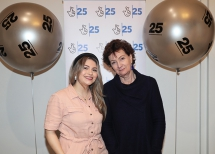 Pictured at the National Lottery 25th Birthday event is Roisín McDonough, Chief Executive of the Arts Council of Northern Ireland with singer-songwriter, Reevah.
