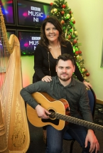 Niall Hanna, Arts Council of Northern Ireland Young Musician with Lynette Fay, BBC Radio Ulster presenter and mentor.
