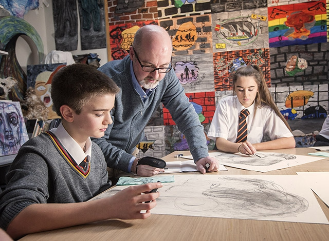 Booktrust Northern Ireland has been awarded £22,180 to bring a series of high-profile authors to meet school pupils. Pictured is illustrator PJ Lynch on a visit earlier this year to Lagan College.