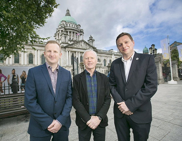 Pictured launching the initiative are David McConnell, Arts Council of Northern Ireland, Bill Wolsey, Managing Director, Beannchor and Councillor Donal Lyons, Belfast City Council.
