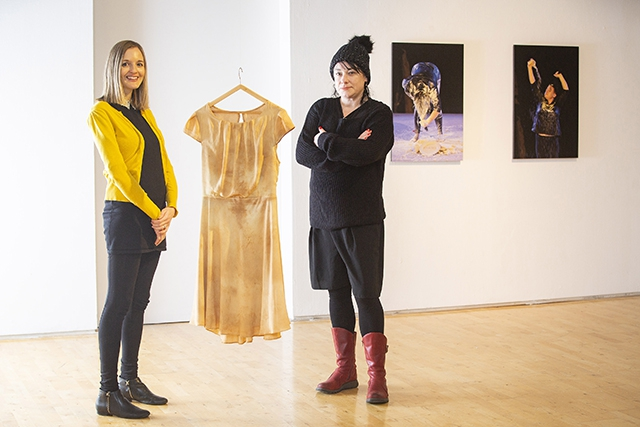 Pictured is Joanna Johnston, Arts Council of Northern Ireland with artist, Sinéad O'Donnell.