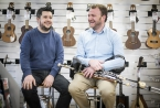 Pictured is Gary Dodsworth of Matchetts with Uilleann piper and instrument maker, Patrick O'Hare, who recently partnered with the Belfast outlet to offer customers the opportunity to purchase his high-quality pipes through the Take it away scheme.
