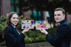 Pictured are students Ciara Hughes and Thomas McLarnon.