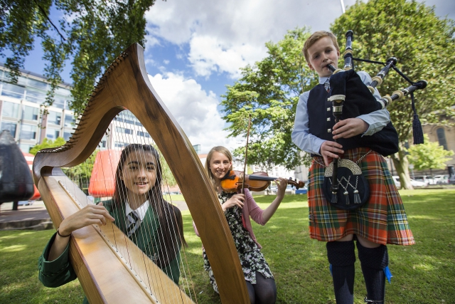 Young musicians launch the inaugural Belfast Summer School of Traditional Music which will celebrate both Irish and Ulster-Scots musical traditions later this summer.