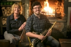Pictured is Connla band member, uilleann piper, Conor Mallon with Sonya Whitefield, Arts Council