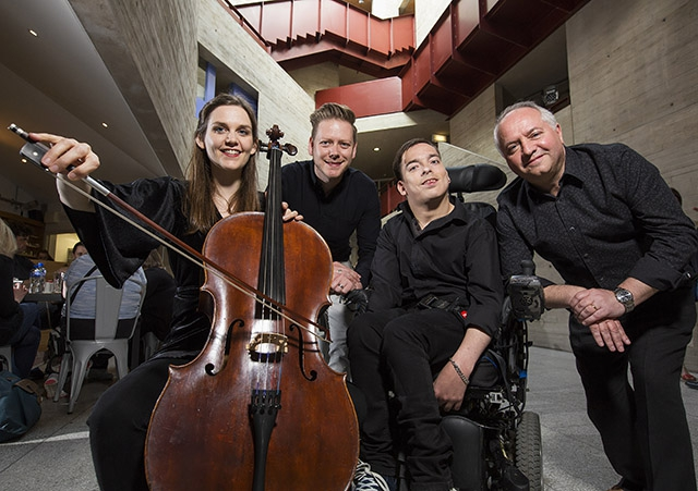 Benyounes Quartet received Beyond Borders funding in 2017 for their UK tour of NonZeroSum where they performed with Acoustronic at the Walled City Music Festival