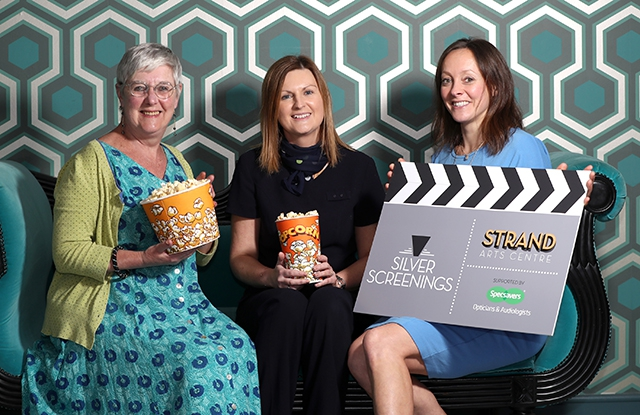 Launch of the Strand Arts Centre's popular Silver Screenings programme thanks to support from Specsavers Opticians and Audiologists in Connswater.
