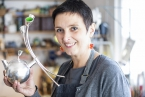Local silversmith, Cara Murphy, winner of the £15,000 Rosy James Memorial Trust Award