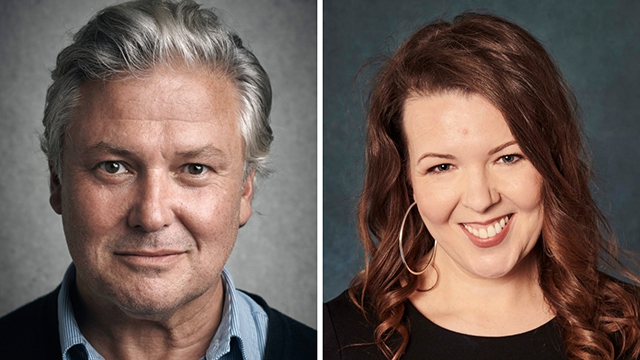 Pictured: Conleth Hill and Lisa McGee