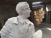 The William Conor sculpture in the making