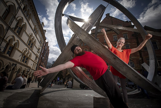 Linda Fearon & Andy Paton from disability dance group Luminous Soul celebrate a decade of dance  with a free public performance at Cornmarket on Sat 7 Sept at 1pm.