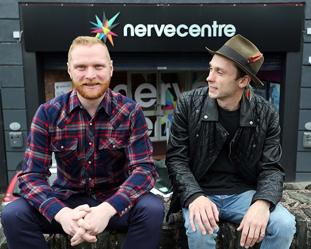 L-R: Musicians Marty Coyle and David Lyttle