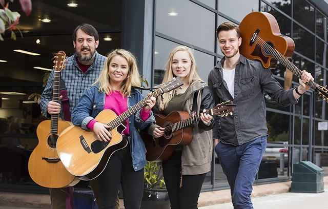 Local singer-songwriters (L-R), Owen Lamont, Cora Kelly, Lucy Bell and Owen Denvir will travel to Nashville this March to perform at the Panarts Belfast Songwriters Showcase at the world-famous Bluebird Café, supported by the Arts Council