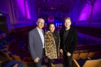 Pictured launching the partnership are  Brian Dolaghan, Invest NI, musician, Ruth McGinley and Ciaran Scullion, Arts Council of Northern Ireland.