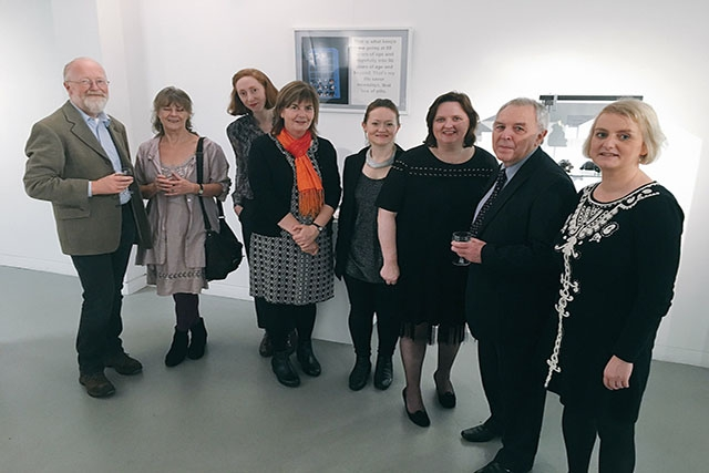 Project partners and participants at the launch of the 'Something of Who I am' exhibition at the Crescent Arts Centre. The exhibition is open until Sunday 18th December.