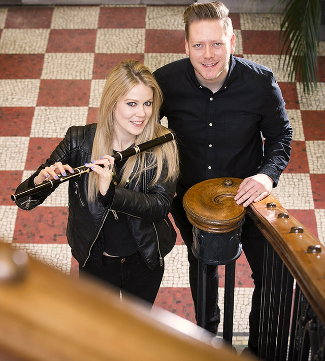 Pictured with Eimear is Ciaran Scullion, Head of Music, Arts Council.