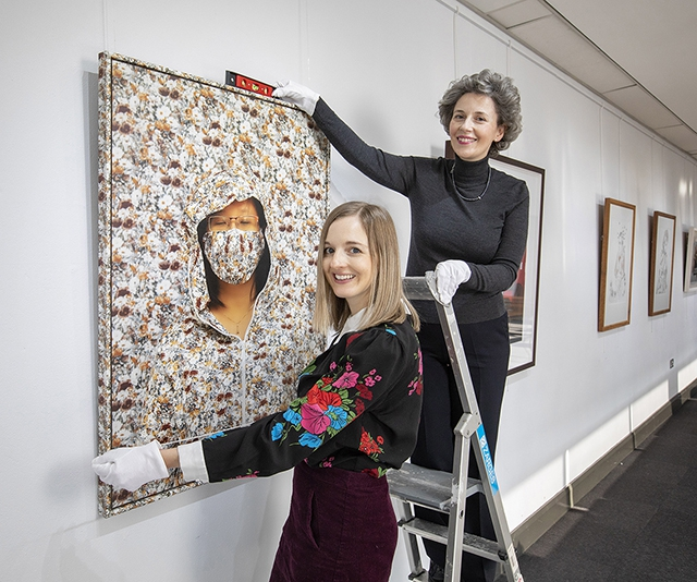 Joanna Johnston, Visual Arts Officer and Dr Suzanne Lyle, Head of Visual Arts at the Arts Council.
